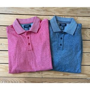 Lot of 2 NORDSTROM Short Sleeve Polo Shirts Large